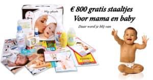 gratis staaltjes voor je baby met de roze doos facebook ad