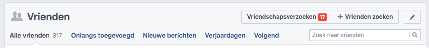 vrienden facebook profiel pagina