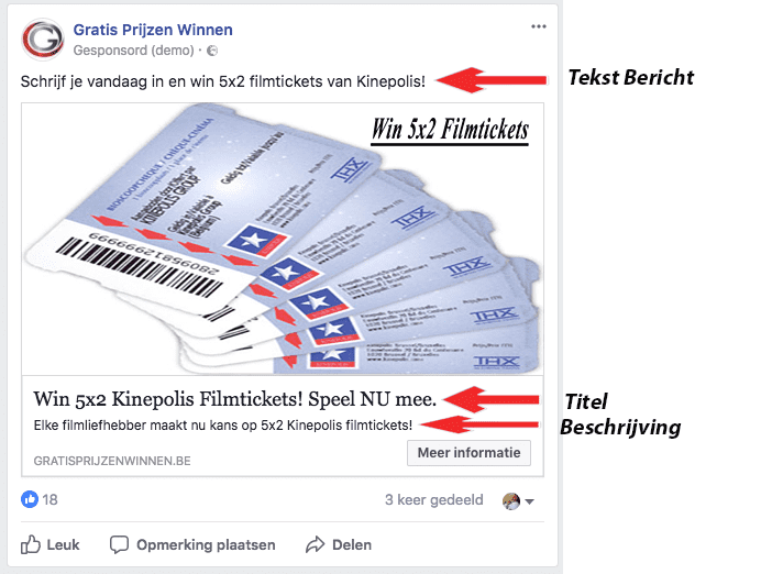 Ontleden Facebook advertentie