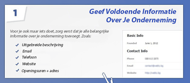Tip 1 - Facebook bedrijfspagina optimaliseren