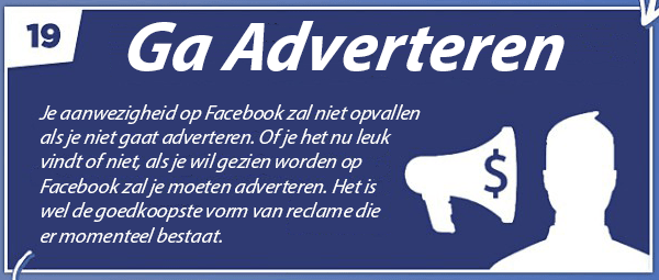 Tip 19 - Facebook bedrijfspagina optimaliseren - Ga adverteren