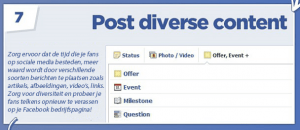 Tip 7 - Facebook bedrijfspagina optimaliseren - Post diverse content