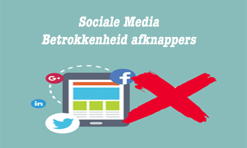 Sociale media betrokkenheid afknappers