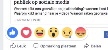 Facebook emoticons voor berichten