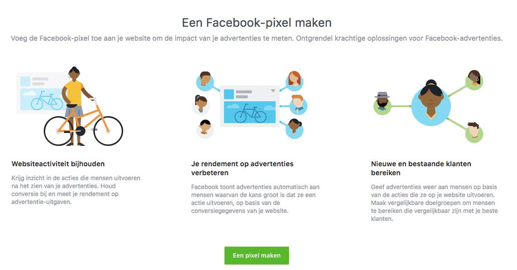 een Facebook pixel aanmaken