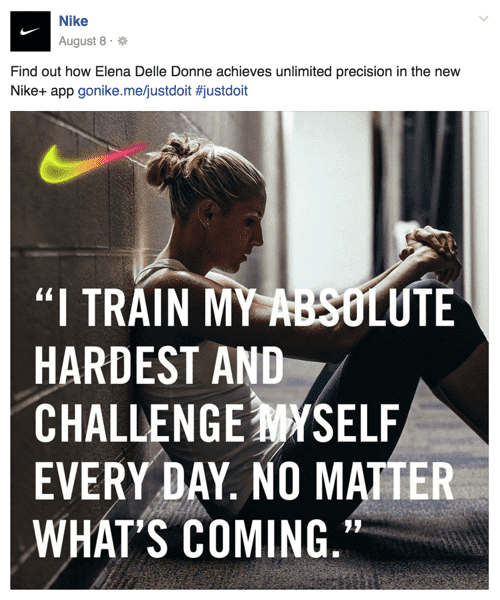 facebook advertentie nike