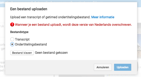 ondertitelingsbestand uploaden
