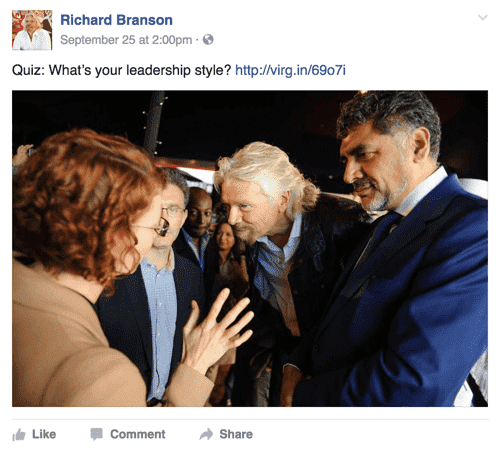 Richard Branson facebook post