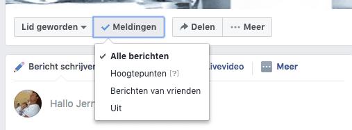 Filter welke berichten je van een Facebook groep wil zien