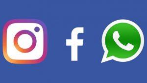 Facebook, instagram en WhatsApp logo
