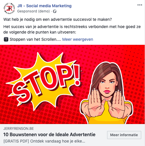 Facebook lead advertentie - download gratis PDF