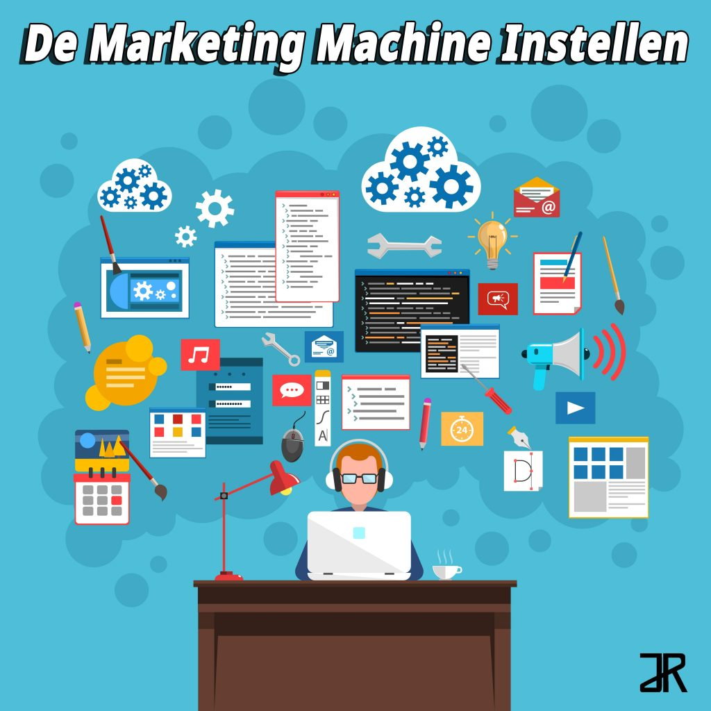 de marketing machine instellen